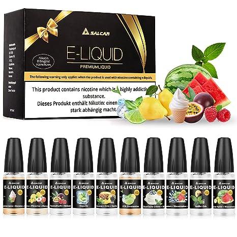 Salcar 10x10ml Set E-Líquido para cigarrillos electrónicos, e-shisha , 0,