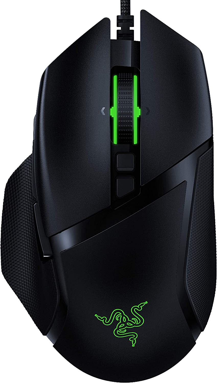 Razer Basilisk v2 Wired Gaming Mouse: 20K DPI Optical Sensor - Fastest Gaming Mouse Switch - Chroma RGB Lighting - 11 Programmable Buttons - Classic Black