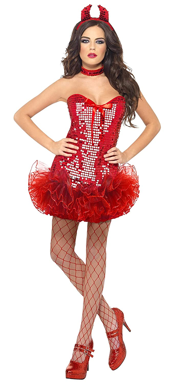 ccb9c9bff8 Amazon.com  Fever Women s Red Sequin Devil Costume  Clothing