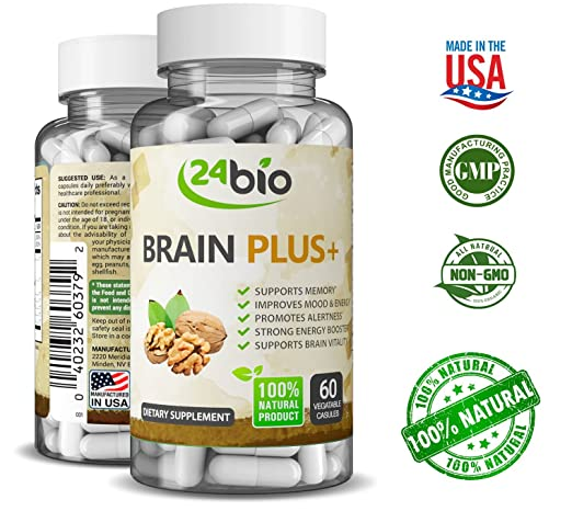 Natural Nootropics Supplement - Brain Power IQ Super Booster Pills & Memory Vitamins, Improve Cognitive Function and Health with Ginkgo Biloba, Guarana Seed Extract, DMAE and Rhodiola Rosea