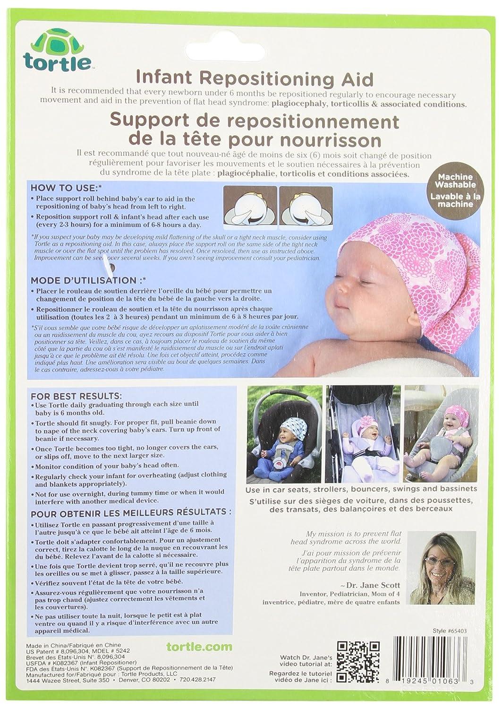 2d61bd1ec721 tortle-fda pointé pour aider à prévenir tête plate syndrome-pink-medium   Amazon.fr  Bébés   Puériculture