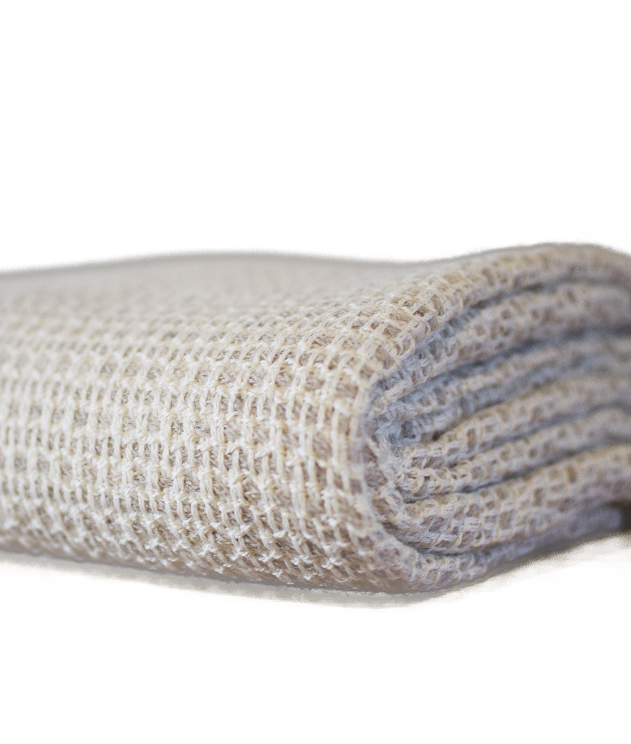 Premium Super Soft Alpaca Wool Hand Woven Throw Blanket (Taupe)