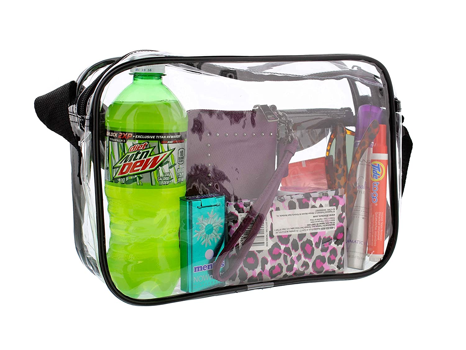 Amazon.com : Redneck Convent Clear Purse, Small Medium & Large, NFL Stadium Approved Bag with Zipper & Comfortable Shoulder Strap : Sports & Outdoors