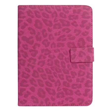 Emartbuy Smart Hard Back Flip Stand Wallet Cover for Micromax Canvas Tab P701 : Size  7 8 Inch    Pink Leopard Bags,Cases   Sleeves