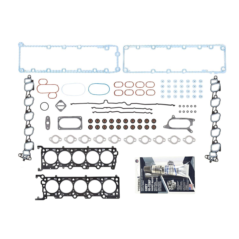 Evergreen FSHB8-21210 Full Gasket Set Head Bolts Fit 03-12 Ford E350 E450 F350 F450 F550 6.8