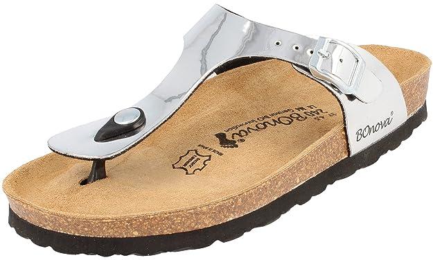 Pantoletten Damen 39 Sandalen Ibiza Bronze Metallic 39 Bonova Online Zahlen Mit Paypal Verkauf 100% Original Günstig Kaufen Mode-Stil O9PeMo3