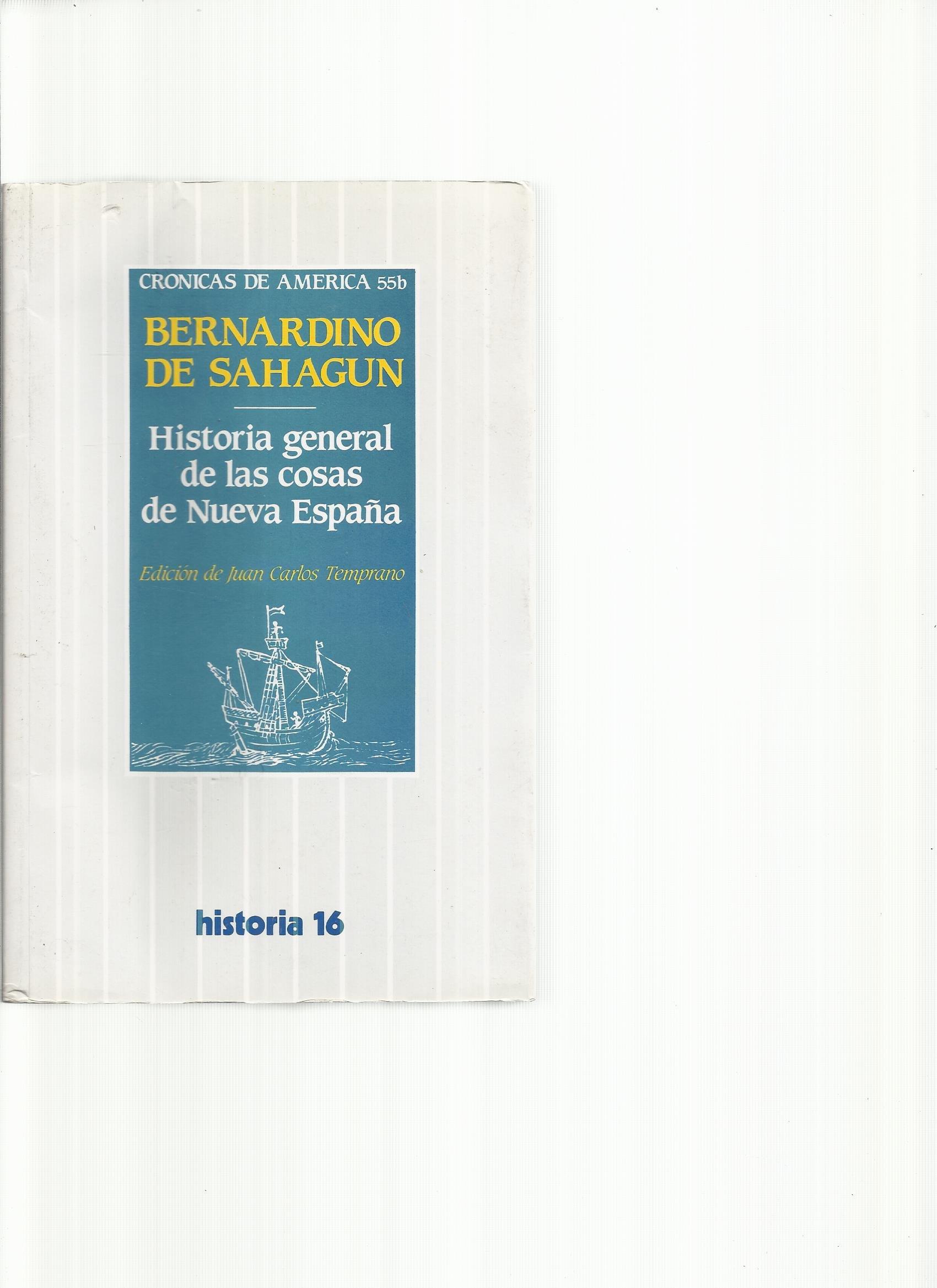 Historia general de las cosas de nueva España Alianza universidad: Amazon.es: Sahagún, Bernardino de: Libros