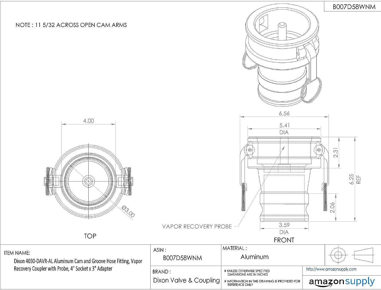 Dixon 4030-DAVR-AL Aluminum Cam and Groove Hose Fitting