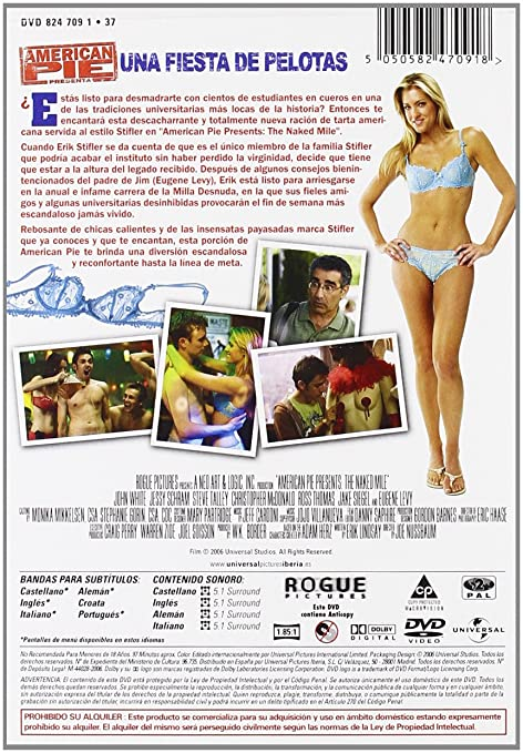 American Pie 5: Una fiesta de pelotas [DVD]: Amazon.es: John White, Eugene Levy, Jessy Schram, Steve Talley, Christopher Mcdonald, Jake Siegel, Ross Thomas, ...