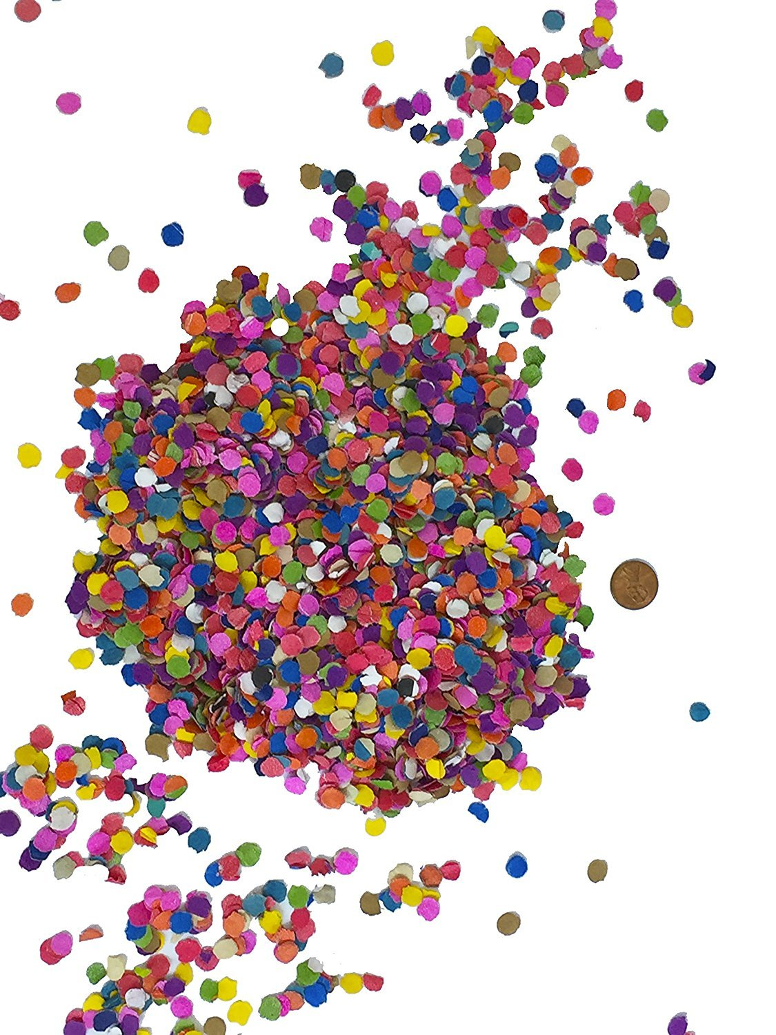 TrendyCommerce Multicolor Mexican Tissue Paper Confetti Toss - MEDIUM Bag (2-PACK) 22 Oz any Party & Celebration