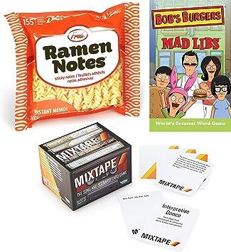 Desconocido Noodles of Fun Card - Cinta de Mezcla de Juegos de música con Texto Mad Word, edición Bob Burger y Ramen Divertido y Retro: Amazon.es: Juguetes y juegos