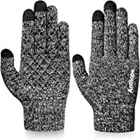 Antilope Winter Gloves for Men Women-Upgraded Touchscreen Gloves Anti-Slip Texting Gloves-Elastic Cuff Thermal Soft…