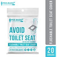 PeeBuddy Flushable and Disposable Paper Toilet Seat Covers to Avoid Direct Contact with Unhygienic Seats - 20 Sheets