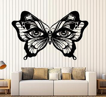Amazon.com  Vinyl Wall Decal Butterfly Insect Women s Eyes Art Decor ... 0dd1660e2