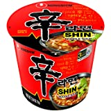 Nongshim Shin Cup Noodle Soup, Gourmet Spicy, 2.64 Ounce (Pack of 6)