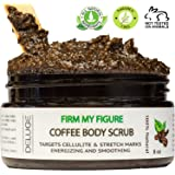 DELUGE - Organic Coffee Body Scrub, Tightens, Tones, Reduces Cellulite 100% Natural 8 OZ