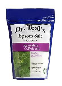 Dr Teal's Epsom Salt Foot Soak, Cooling Peppermint, 32 Ounce