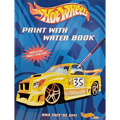 Hot Wheels Paint with Water Book - And They're Off: Toys & Games