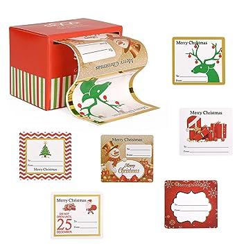 amazon com christmas gift tags sticker labels adhesive jumbo 60
