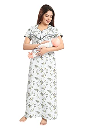 eb9717d1a5 TUCUTE Women's Beautiful Floral Print Soft Cotton Fabric (1717) Feeding/ Maternity/Nursing