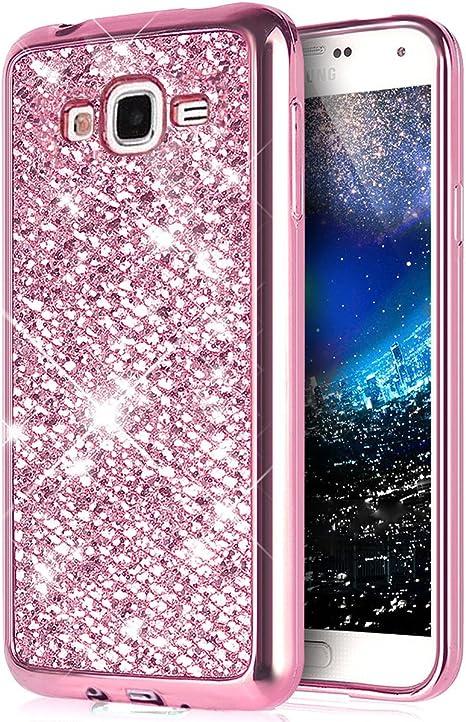 YSIMEE Compatible con Funda Samsung Galaxy J5 2015,Fundas Transparente Silicona Brillo Bling Brillante Suave Ultra Fina Delgado Gel Bumper TPU Goma Protectora Carcasas -Rosado: Amazon.es: Instrumentos musicales