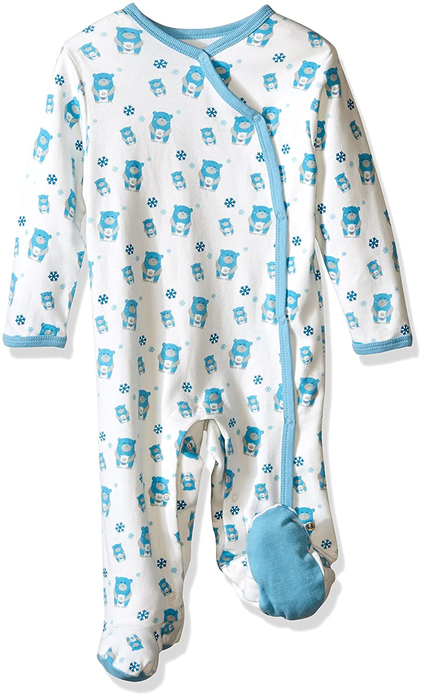 Babysoy Baby-Girls Baby Boy Organic Animal Prints Kimono Footie 300