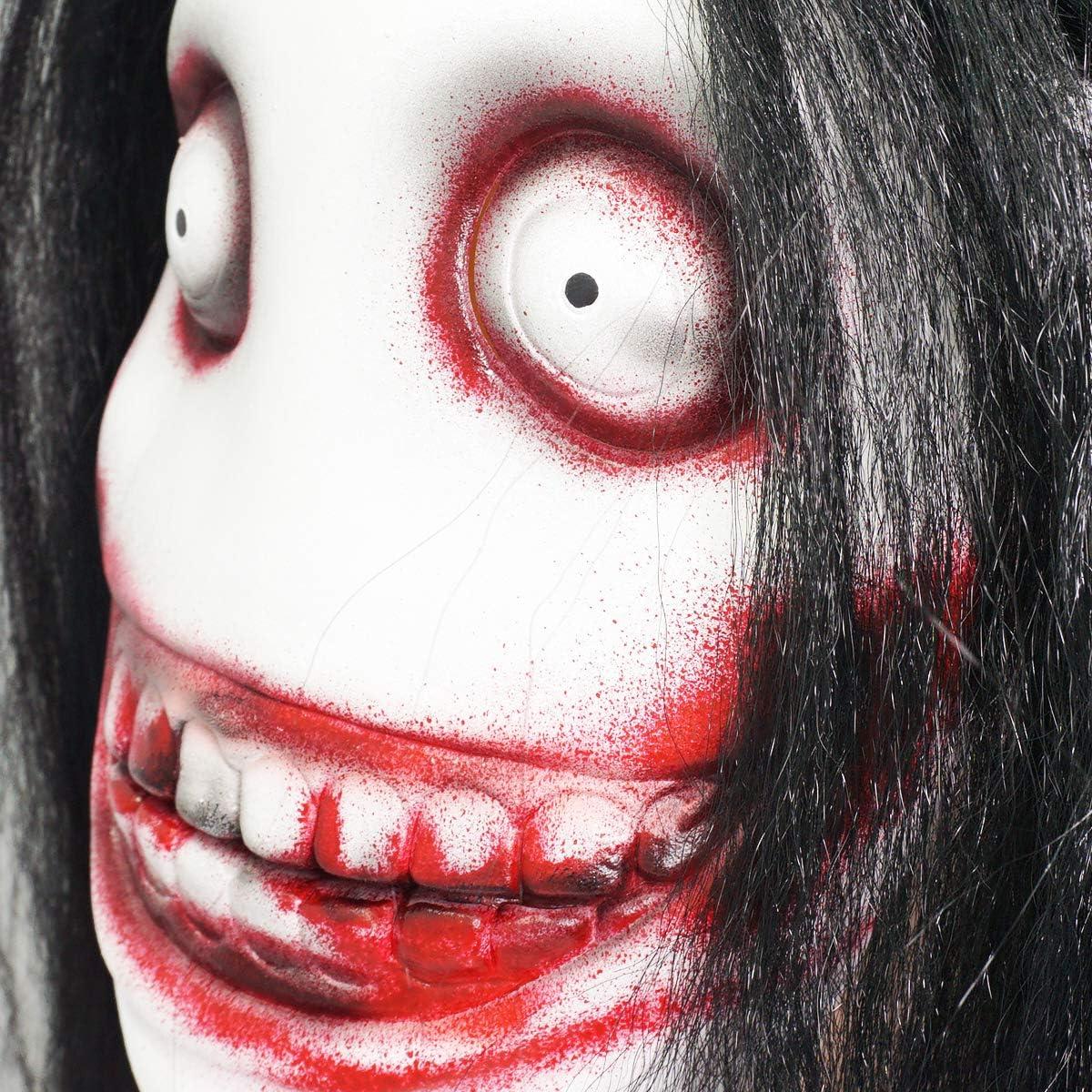 MISS C Máscara de látex Jeff The Killer para Halloween, Cosplay ...