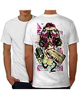 La musique Zombi Mic Mode Mic La musique Men S-5XL T-shirt le dos   Wellcoda