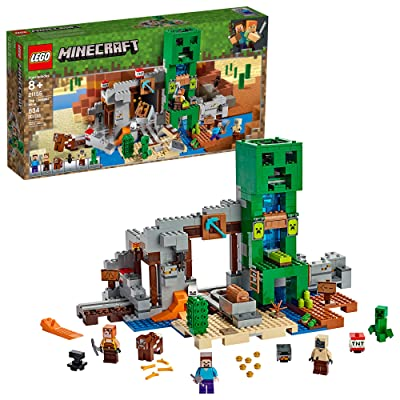 LEGO Minecraft The Creeper Mine 21155 Building Kit (834 Pieces): Toys & Games