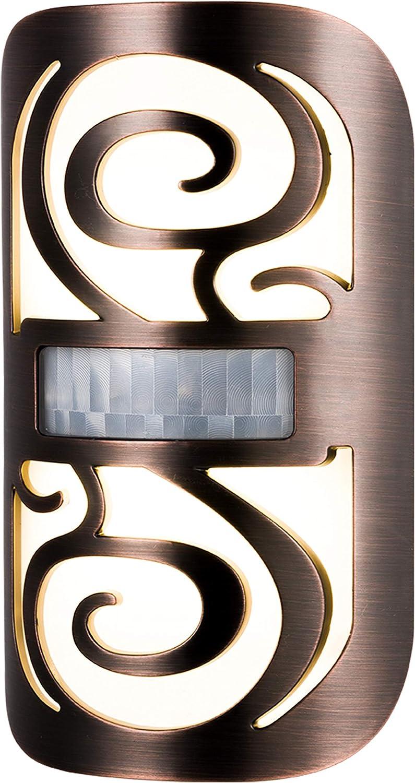 Enbrighten Oil Rubbed Bronze LED Night Light Motion-Sensor, Plug-in, Swirl Shade, Home Decor, UL-Listed, Ideal for Bedroom, Nursery, Kitchen, Bathroom, 44312