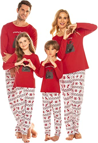 Hot Sale Family Matching Casual Pajama Outfit Parent-Child Cotton Sleepwear
