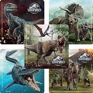 Jurassic World Stickers - Prizes 100 per Pack