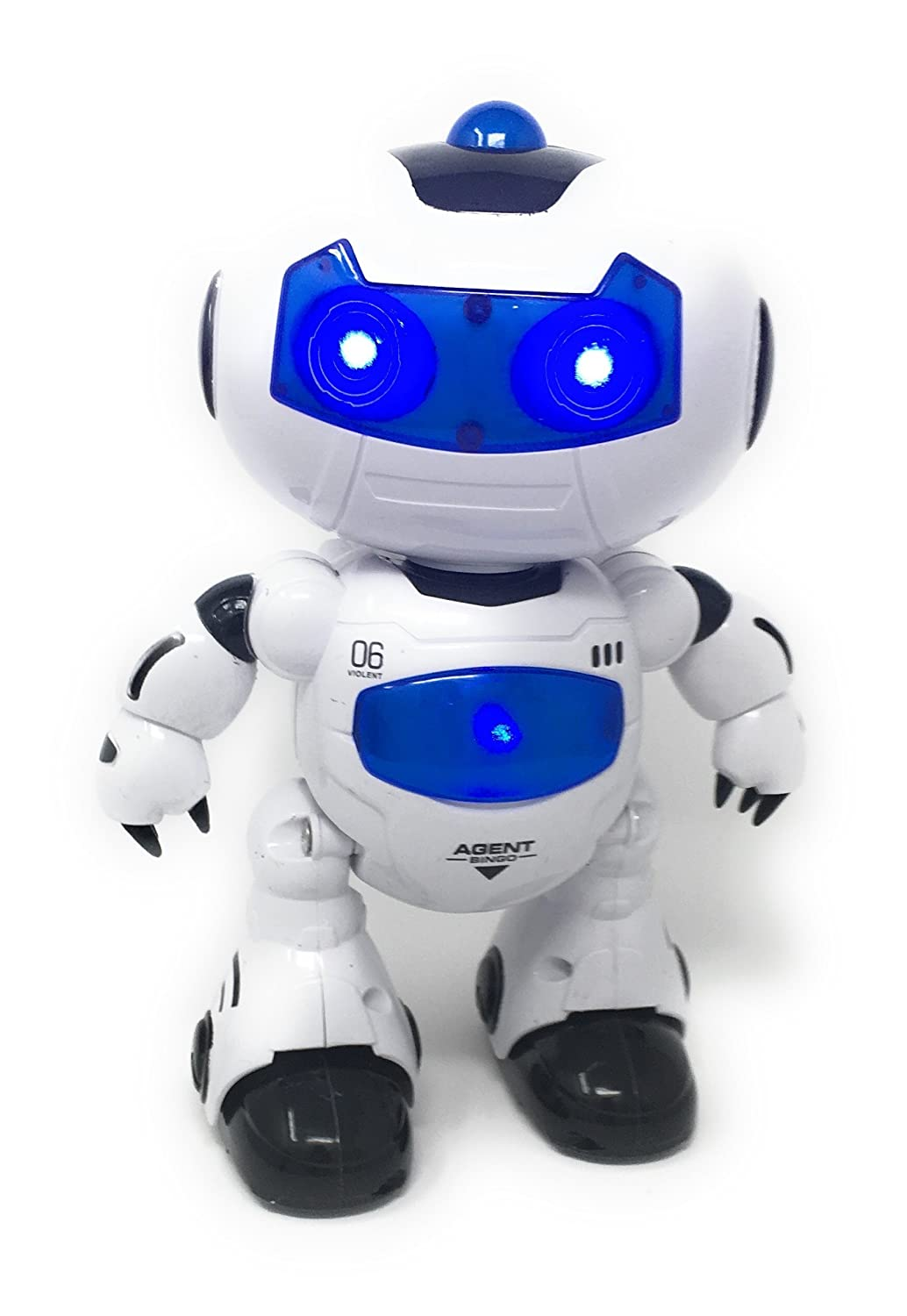 25 Electronic RC Robot Learning Toys - Hanmun XQ16006 Toddler Intelligent Action Dancing Remote Control Robot Toys with Music Lights for Kids Girls Boys
