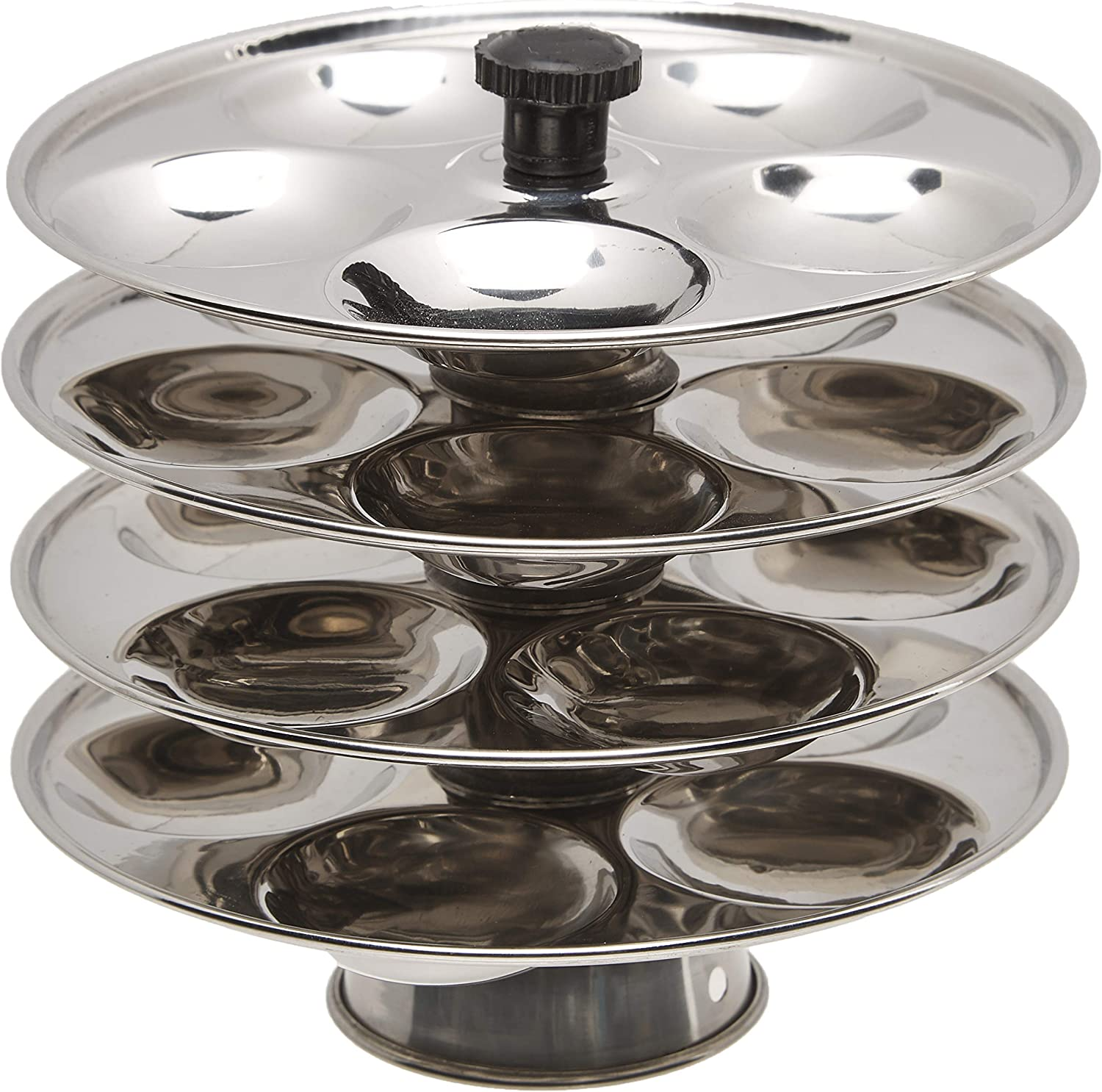 Tabakh 4-Rack Stainless Steel Baby Mini Idli Stand, Makes 20 Mini Idlys