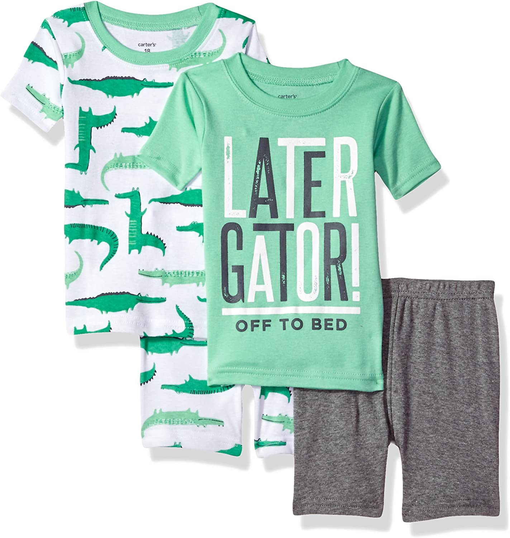 Carters Boys 4 Piece Cotton Sleepwear