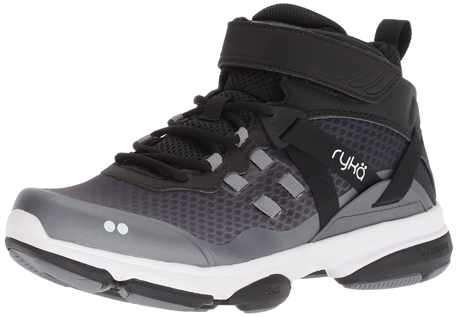 Ryka Women's Devotion Xt Mid Cross Trainer B079ZCHPYR 10 B(M) US|Black/Grey/White