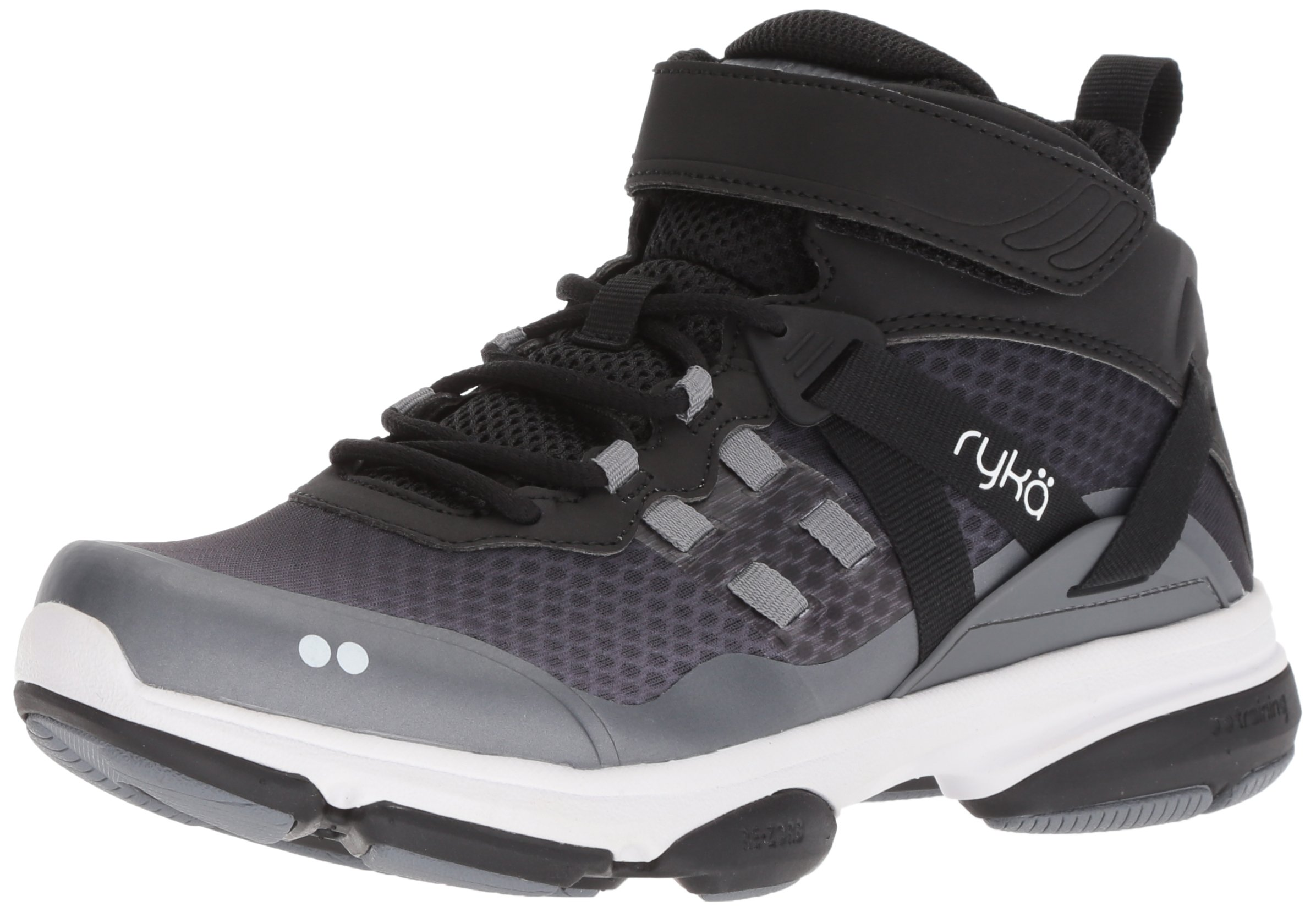 Ryka Women's Devotion XT Mid Cross Trainer, Black/Grey/White, 9 M US by Ryka (Image #1)