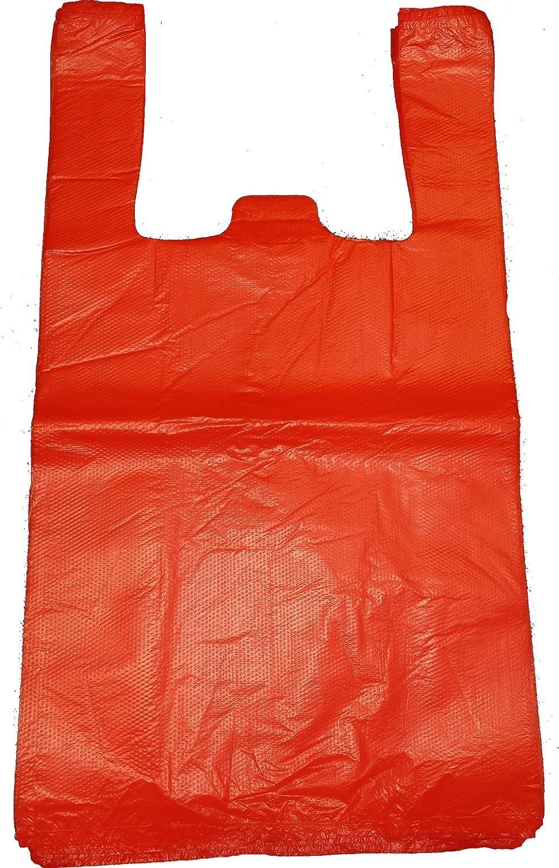 100 x Plastic Blue Vest Carrier / Shopping / Bags - 11