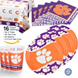 Party Supplies Pack - The Ultimate Party Pack for 16 w/ Plates, Cups, Napkins, Plastic Tablecloth and More!