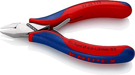 KNIPEX 77 32 115 Alicate de corte diagonal para electrónica con fundas en dos componentes 115 mm: Amazon.es: Bricolaje y herramientas