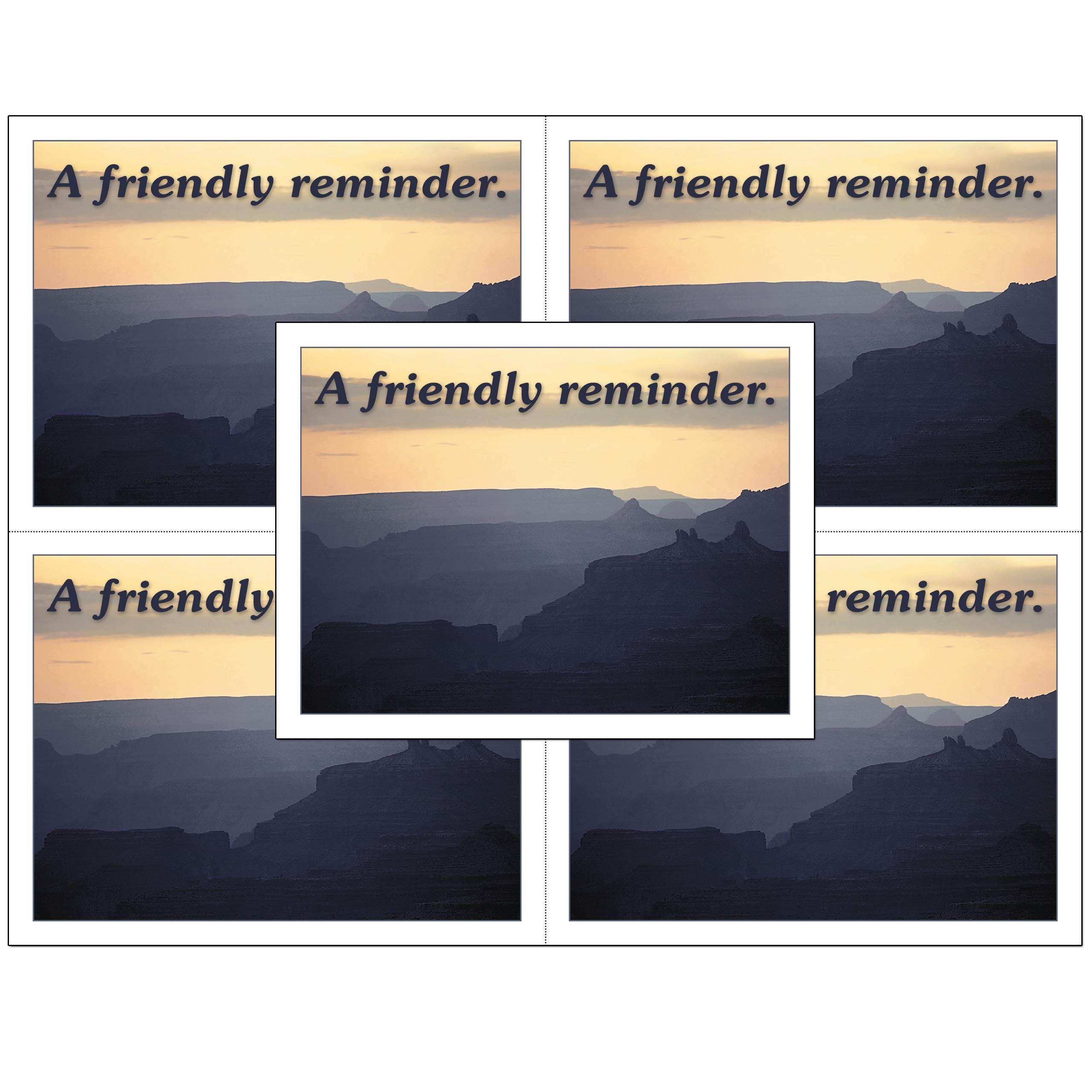 Laser Appointment Reminder Postcards with Personalizable Backs. Suitable for Dental, Optometric, Chriopractic or Veterinarians. 4 Cards Micro Perforated for Tear-Off at 4.25'' x 5.5'' (2500) by Custom Recall