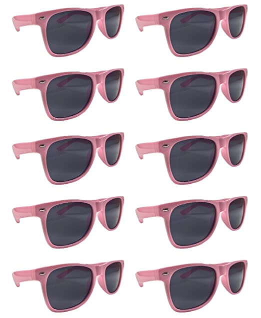 673d96100d Amazon.com  BULK UNISEX SUNGLASSES- Retro Neon Party Style (Weddings ...