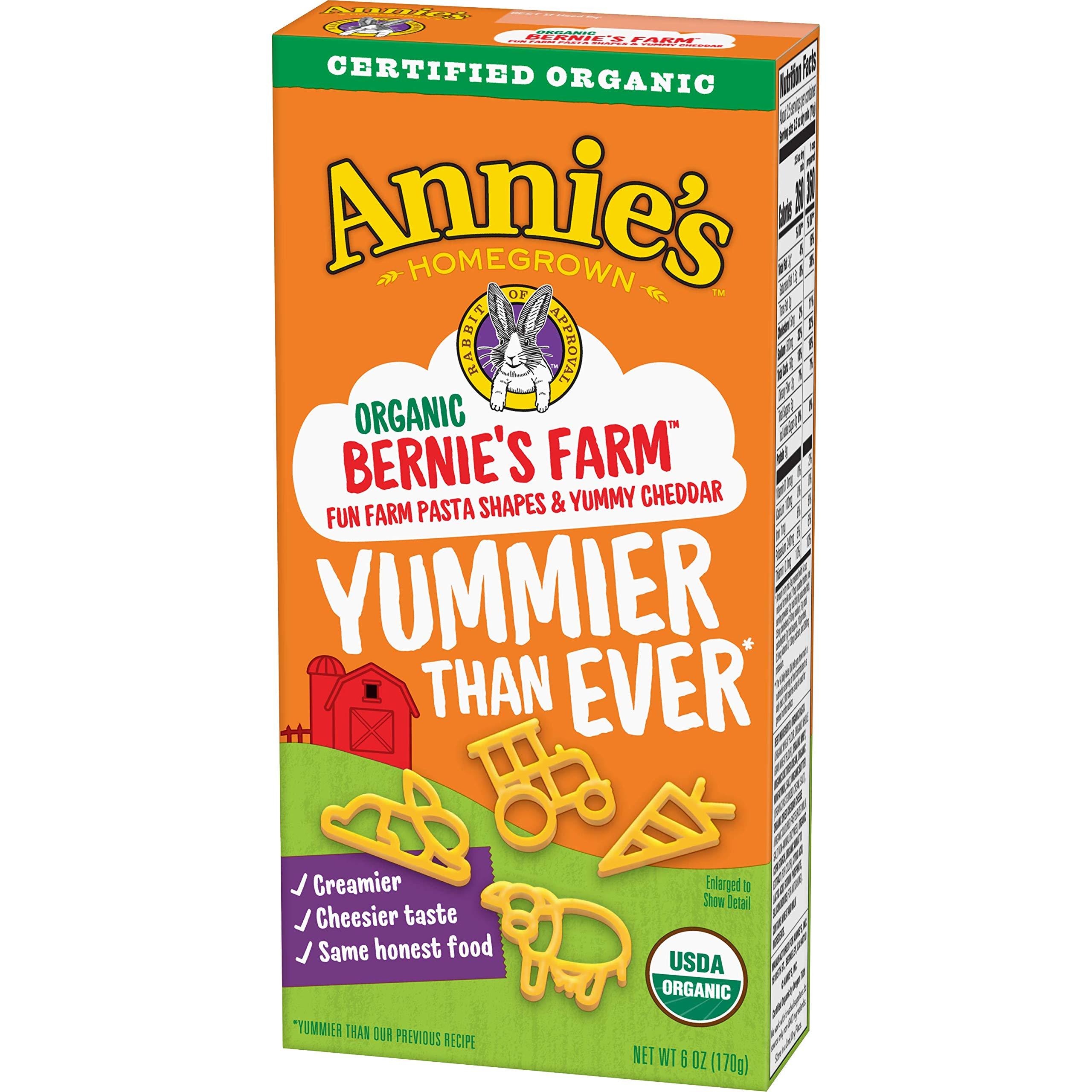 Annie's Organic Bernie's Farm Macaroni & Cheese, 12 Boxes, 6oz (Pack of 12)
