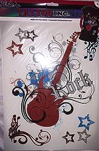 Tattoo Inc Iron-On T-Shirt Transfer Rock Guitar