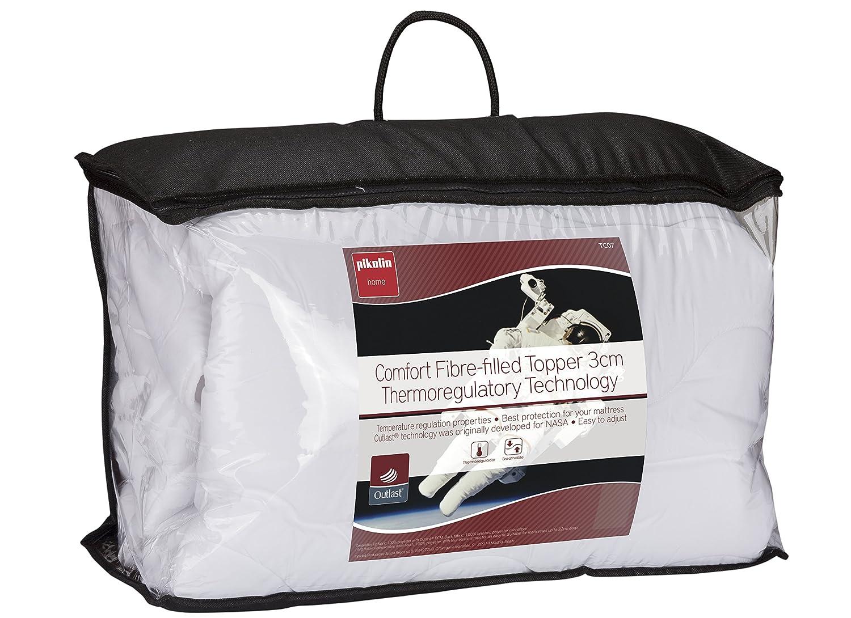 Classic Blanc - Topper, sobrecolchón de fibra hipoalérgénico y ...