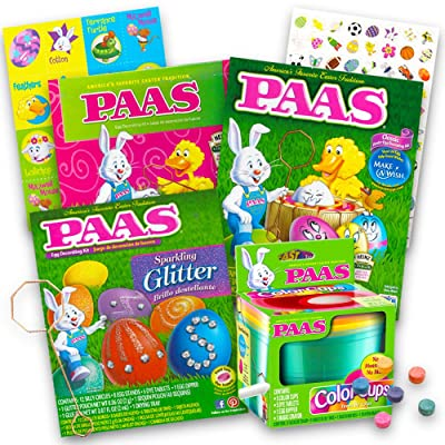 Paas Easter Egg Decorating Kit Variety Pack. Pack of 4. (Decorating Kits Will Vary): Toys & Games