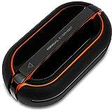 Moneual RS700 Dual Spin Wischroboter mit Hinderniserkennung-Feucht-und Trockenreinigung, Schwarz/Orange