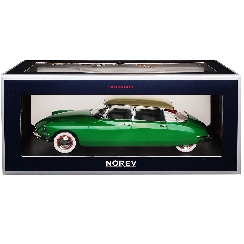Norev Citroen DS19 Limousine Grün mit beigem beigem beigem Dach 1955-1968 1 18 Modell Auto mit individiuellem Wunschkennzeichen e43297