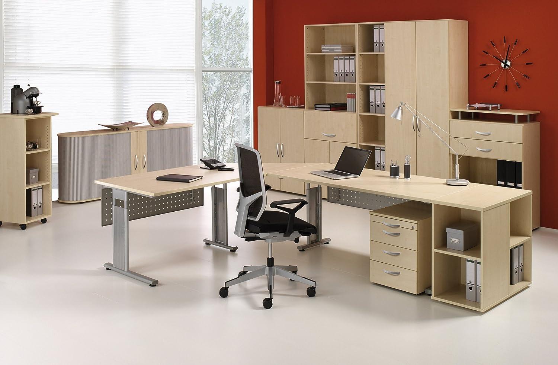 Gera Möbel S-593603-SI Schreibtisch Knieraumblende Lissabon für ...