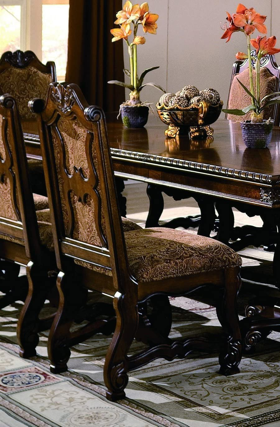 Neo Renaissance Side Chair Set of 2 by Crown Mark